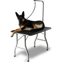 "36"" Large Pet Grooming Foldable Table Dog Cat Adjustable Arm Groom Connect"