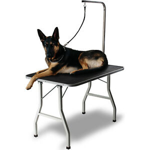 """36"""" Large Pet Grooming Foldable Table Dog Cat Adjustable Arm Groom Connect"""