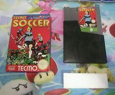 Caja + Cartucho Juego Nintendo Nes Tecmo World Cup Soccer Pal B España Original