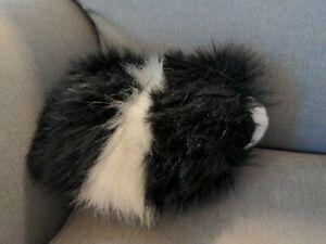Douglas Cuddle Toys Angora the Black White Guinea Pig # 4112 Stuffed Animal Toy