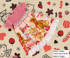 ☆╮Cool Cat╭☆274.【NI-48】Blythe Pullip Lovely Clothes # Pink Bear