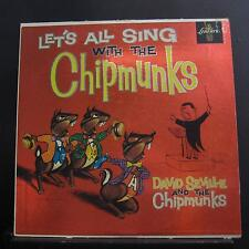 David Seville & The Chipmunks - Let's All Sing With LP VG+ LRP 3132 Red Vinyl