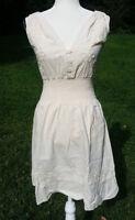 Manta Cotton Dress Mexican Chiapas Natural Cream MT# 16 See Size Measurements