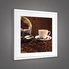 CANVAS Wandbild Leinwandbild Bild Kaffeebohnen Kaffee Tasse Sack  3FX10916O5