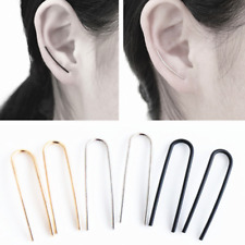 Fashion Women Korean Simple U Ear Climber Ear Stud Unique Earrings Jewelry Gift