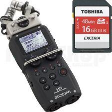 Zoom H5 Recorder + 16 GB SD Karte + 2GB SD + Case + Windschutz + Batterie
