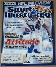 9/2/2002 Sports Illustrated Randy Moss Minnesota Vikings NFL Preview Ray Lewis