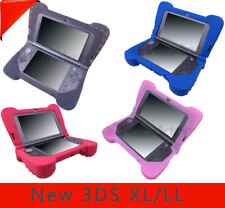 Ergonomic Silica Gel Case Cover Shell for Nintendo New 3DS XL/LL with Game Grip