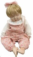 Ashton Drake Emily Anne Porcelain Doll Sleeping Soft Body Vtg 1996 Pink Blonde
