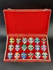 More details for boxed vintage chinese miniature opera mask hand painted