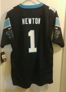 Cam Newton Carolina Panthers Youth XL Home Jersey Black #1 Nike 100% Authentic