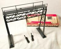VINTAGE PLASTICVILLE RAILROAD SIGNAL BRIDGE O SCALE MODEL RAILROADING