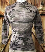 NWT Under Armour Men's Small Ridge Reaper Shirt Camouflage Polyester Long Sleeve