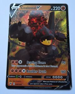 098/185 Coalossal V | Pokemon Trading Card Game TCG | Vivid Voltage