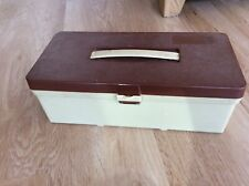 Vintage plastic sewing box / craft box