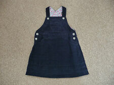 JoJo Maman Bebe Cord Dungaree Dress 18-24 Months Girls Navy New Without Tags