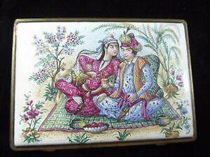 Mina Karee  Enamel ware Uniquely Persian Cigarette Case