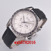 40mm BLIGER Mechanical Automatic Mens Watch white Dial multifunction