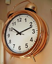 NEW LARGE STYLISH COPPER CLOCK - FREESTANDING OR WALL - Alarm Clock Style
