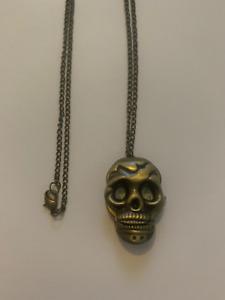 Skull Stopwatch Halloween Necklace Pendant
