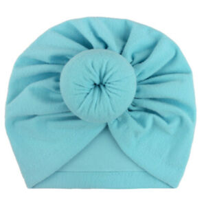 Baby Girl Infant Newborn Toddler Turban Hat Wrap Head Band Hair Triple Top Knot