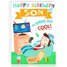 SON BIRTHDAY Greetings card - Relax - XBOX- PS4 - Male - Gaming