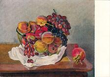 1957 RARE Russian postcard FRUITS by Armenian artist Yeranuhi Aslamazyan