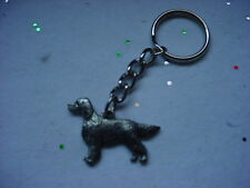 IRISH SETTER Dog PEWTER Silver KEYCHAIN Christmas ornament Key Ring NEW puppy