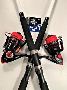 Two Coastal Tuff 8' Rod & XF6000 (13+1 bb) Reel (Red Braid) Combos