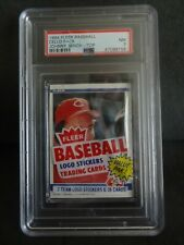 Johnny Bench 1984 Fleer Cello Pack Top graded/slabbed PSA 7 NM Cincinnati Reds