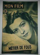 MON FILM N° 127  METIER DE FOUS   Gaby SYLVIA  Henry GUISOL  Jean TISSIER