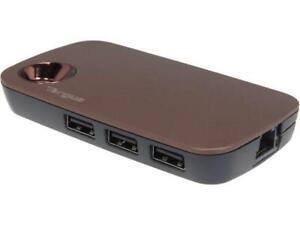 TARGUS ULTRALIFE USB HUB WITH ETHERNET PORT , ACH121US, 3X USB , 1X  ETHERNET