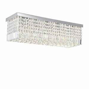 Modern Crystal Chandelier Lights Luxury Rectangle Raindrop Elegant Ceiling