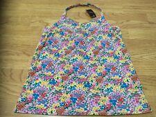 Next Girls Size 16 Years Flowered Halterneck Vest Top - Brand New