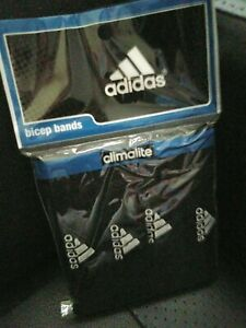 adidas Interval 3/4-inch 4 Bicep Bands Black & White One Size Fits All * New NIP