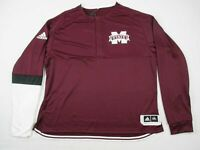 Mississippi State Bulldogs adidas Pullover Men's Maroon Poly NEW 2XL