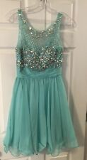 Dancing Queen Extra Small Prom Dress Teal With Sequin
