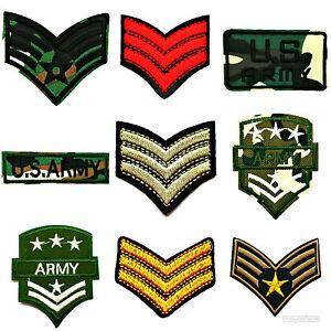 PATCH AUFNÄHER USA AFBÜGLER ARMY STARS STERN SERGEANT CAMOUFLAGE SOLDAT ARME