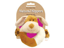 Rosewood Cuddle Plush Ring Dog Toy | Natural Nippers Puppy Small Dog Chase Chew