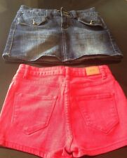Women's 26 Jean Shorts And Moto Skirt