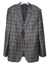 Z ZEGNA Men's Classic Fit Grey Black Plaid Sport Coat Sz 38R 1033