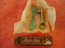 Vintage Original 1920s Aero-Fan Self Winding Fan - Chicago, Illinois Usa