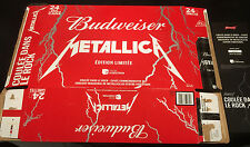 Metallica Budweiser empty case with certificate of authenticity numbered