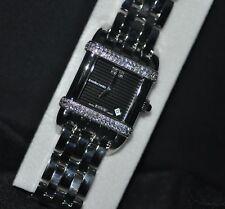 JEANRICHARD Women's 27102d11k61c-11 Swiss Diamond Black Dial Steel Watch