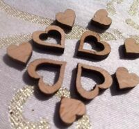 400x Confetti Craft Wedding Table Little Real Wood Love 💕 Hearts 🇬🇧