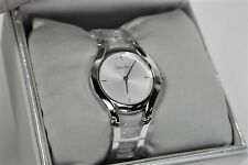 Calvin Klein Women's Watch K6R23126 Stainless Steel Silver Tone Face, Swiss Made