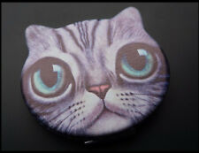 Big eyed CAT - Soft Folding Compact Pocket Mirror - Limited Edition - 3 PC LOT