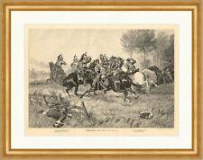 Vorpostengefecht Schlacht Militär Reiter Kavallerie Säbel Degen W 576