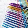 Aluminum Straight / Single Point Knitting Needles 35cm Length - All Sizes Craft