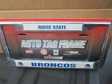 BOISE STATE BRONCOS CHROME METAL LICENSE PLATE TAG FRAME